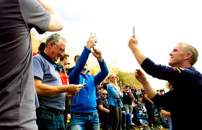 Fans galore: Spa Francorchamps is all about mingling with the fans of other racing teams